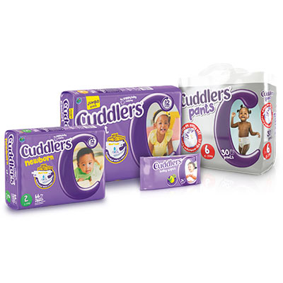 Cuddlers nappies, pants or wipes
